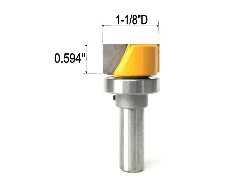 2pc Miniature Ball Flanged Bearing 3x8x4mm WJB F693-ZZ with 2 Metal Shields