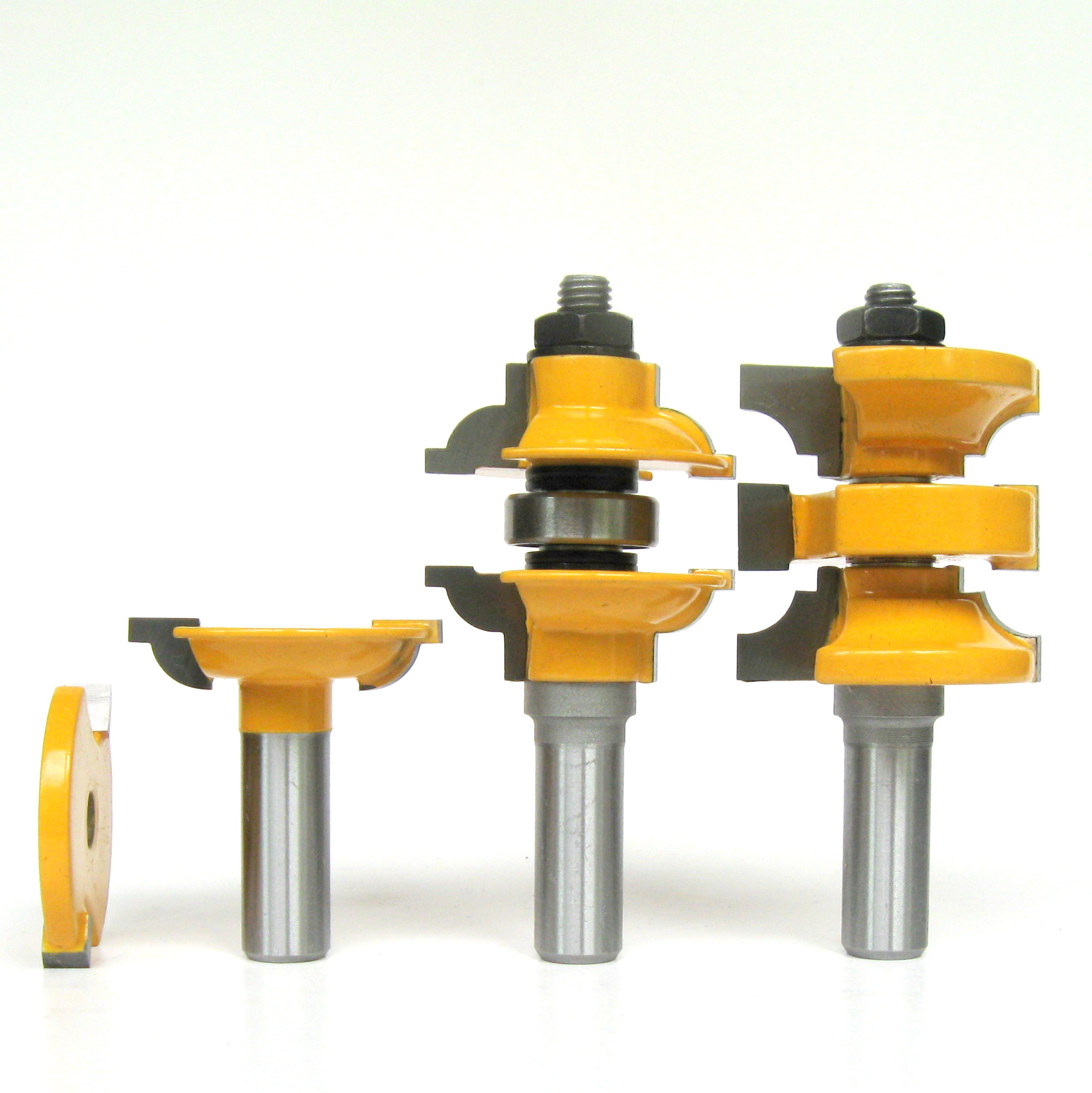 4 Pc 1 2 Sh Round Over Entry Interior Door Matched R S Router Bit Set Ebay